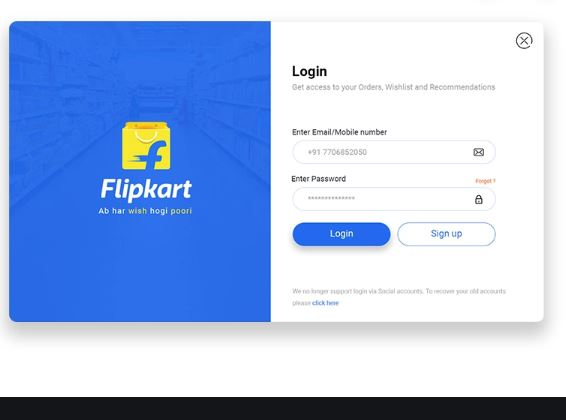Flipkart Sign In | Recover Flipkart Login Password